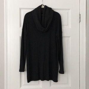 Tunic/cowl neck sweater. Charcoal/gray. Like new!